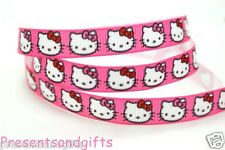 """✿ 2m PLAIN SOLID WHITE OR BABY PINK CHOOSE COLOUR 3/8"""" 9/10mm GROSGRAIN RIBBON ✿"""