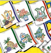 Hand Embroidery Transfer 679 Fruit Flowers Coffee Pot for Towels Aprons Hot Pads