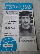 6.9.68 Stockport County v Crewe Alexandra programme
