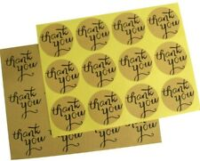 60/pcs Round Thank You Sticker Wedding Favor Thank You Card,DIY Gift Packaging