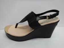 Guess Size 9 Black Wedge Sandals New Womens Shoes