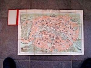 MAP  NOUVEAU PARIS MONUMENTAL - GARNIER FRERES - 1889 BOUND  CLOTH  RARE .