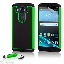32nd Dual Layer Shockproof Case Cover for LG K4 (2016) Green