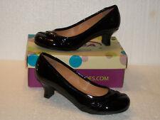 "SODA Pumps 4.5 M Black Patent Shoes HARVE-IIH 2"" Kitten Heel NEW Original Box"
