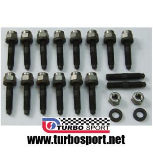 Cosworth YB exhaust manifold stud kit 16 studs,washers,nuts