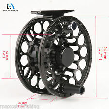 Saltwater Proof Fly Fishing Reel 7/8WT T6 Aluminum CNC Black Left Right hand