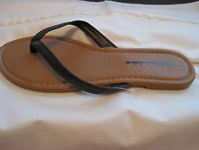 Lot of 7 Pair of Women's Flat Sandals Brown New