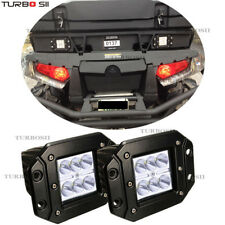 2x LED Flush Mount Light Pods Flood light Square For Jeep Atv Boat Suv Truck 4WD
