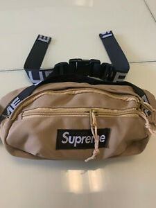 Brand New Supreme Tan Waist Bag Shoulder Bag Fanny Pack Unisex