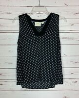 Maeve Anthropologie Women's Sz 6 Black Sleeveless Cute Spring Summer Top Blouse