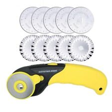 10Pcs Rotary Cutter Pinking Lace Circular Refill Blades Knife Patchwork Crafts