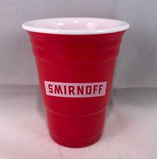 New smirnoff vodka shot glass mini plastic red solo cup