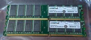 Crucial 1GB (2x 512MB) 184-Pin SDRAM DDR 400 (PC 3200) Desktop Memory CT6464Z40