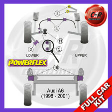 Audi A6 C5 98-01 Powerflex Full Kit Front Upper Arm To Chassis Bushes Camber Adj