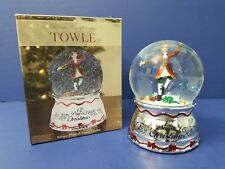 Towle 12 Days of Christmas 10 Lords a Leaping Snowdome Snowglobe Snow Globe Nib