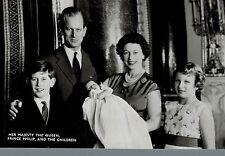 RPPC,U.K.Queen Elizabeth,Prince Philip,Charles,Anne & Baby Prince Andrew,1960