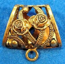 5Pcs. Huge Tibetan Antique Gold FLOWER SCARF BAILS Jewelry Findings SBA83