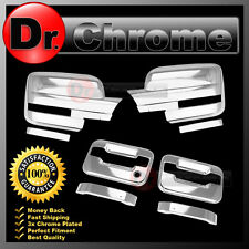 09-14 Ford F150 Chrome Mirror+2 Door Handle+no keypad+no PSG keyhole Cover COMBO