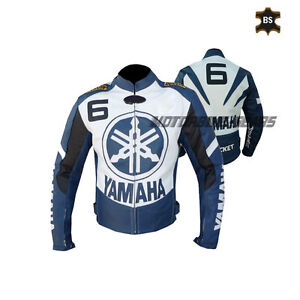 New Blue and white leather jacket R6 leather jacket any number size and colour