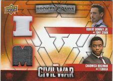 Upper Deck Captain America Civil War Tony Stark & T'Challa Costume Card #BBI-TT