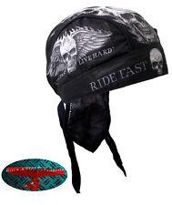 RIDE FAST SKULL Bandana Kopftuch Headwrap Biker Chopper Cap V2 Biker Harley 1%