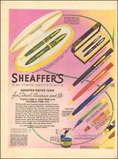 1939 vintage AD SHAEFFER Fountain Pen Pencil Gift Sets & Skip Ink 103118