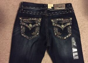 Grace in LA Jeans Bootcut with Gold Embroidered Pockets JB 6911