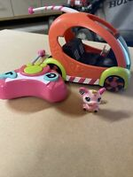 LITTLEST PET SHOP SPEEDY TAILS REMOTE CONTROL CAR MICE FIGURES LPS #1203 #2165
