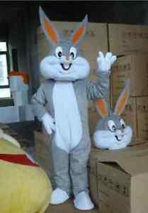 Easter Bugs Bunny Rabbit Adult cartoon mascot Costume Adult size