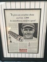 BABE RUTH RARE 1929 ORIGINAL COLLIER'S MAGAZINE  AD FOR BARBASOL SHAVING CREAM!!