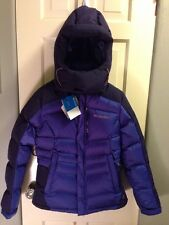 Columbia Omni Heat Wind Block Down Purple Hooded Winter Coat Size Small NEW $230