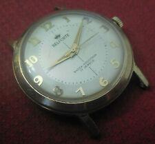 Vintage 1950s Oversized BENRUS BELFORTE 17 Jewels Swiss Watch Running Wristwatch