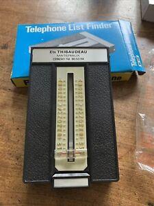Répertoire téléphonique mécanique Vintage  Années 70, Publicitaire, Neuf