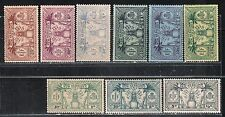 1911 FRENCH & BRITISH COLONY stamps, New Hebrides British, full SET MH, SC 17-25