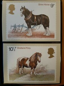 15 Mint Sets Of Various Royal Mail Postcards. Album Mounted.
