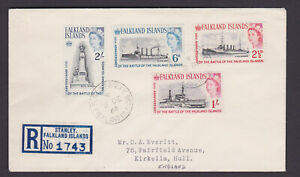 Falkland Islands registered cover to England. 1964. Port Stanley cds.