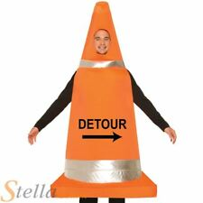 Adult Road Traffic Cone Fancy Dress Costume Funny Stag Hen Night Outfit