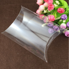 25pcs Clear PVC Pillow Box Candy Chocolate Gift Wrapper Wedding Favors Packing
