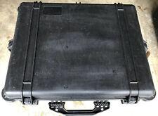 Used Black Pelican 1600 Hard Case Non Rubber Handle Camera Drone Video Tools