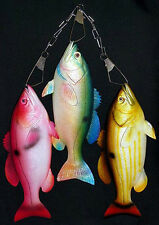 "Set of (3) 12"" Snapper Fish Replica on a Metal Stringer~Wall Plaque Decor Mount"