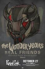 Wonder Years/Real Friends/Knuckle Puck/SeawaY 2016 Detroit Concert Tour Poster