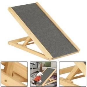 Portable Freestanding Dog Adjustable Heights Non-Slip Puppy Ramp Carpet Stair