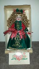 Limited edition collectors Rose Christmas Victorian porcelain doll.