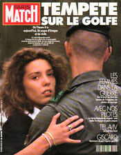 paris match n°2175 guerre golfe tel-aviv giscard sardou
