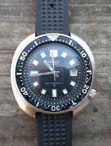Vintage Seiko 6105-8110 Captain Willard Dive Watch Running