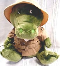 "Dakin Plush GATOR- CROCODILE 1987 Vintage 14"" Safari Hat & Jacket"
