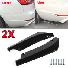 2x Glossy Black Car Rear Bumper Lip Universal Diffuser Splitter Canard Protector