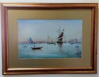 Oil Painting Venice Grand Canal Signed M Aiken Re-Framed Gilt Mount early 20th C