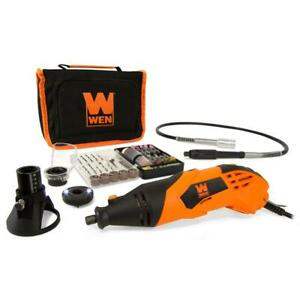 WEN Rotary Tool High-Powered Variable Speed 100+ Accessories Flex Shaft 1.4-Amp
