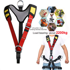 Safety Rock Tree Climbing Fall Protection Shoulder Strap Harness Equipment Gear